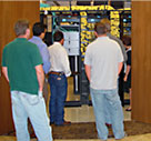 Attendees tour CPI product showroom
