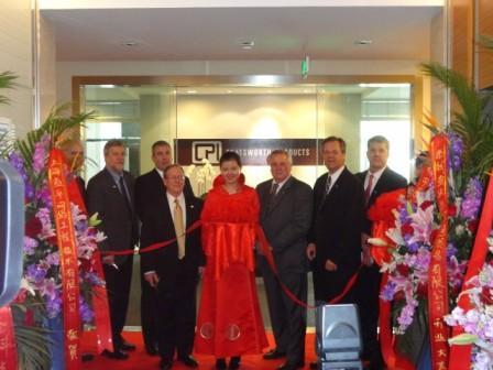 Members of CPI Executive Team cut the ribbon at new Shanghai office