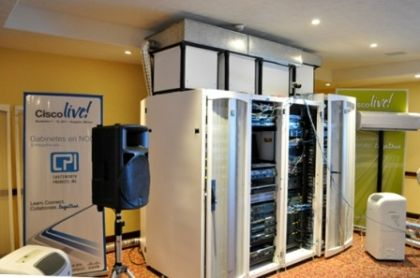 CPI TeraFrame Cabinets powering Cisco's Network Operations Center (NOC)