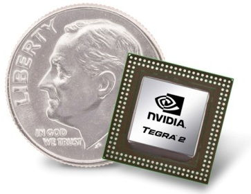 Example of a CPU next to a dime