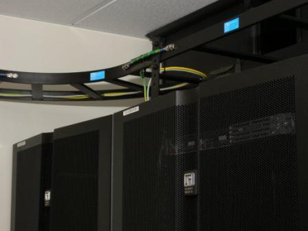 Image of CPI GlobalFrame Cabinet, Vertical Exhaust Duct and CPI Cable Runway in Icelandic Data Center
