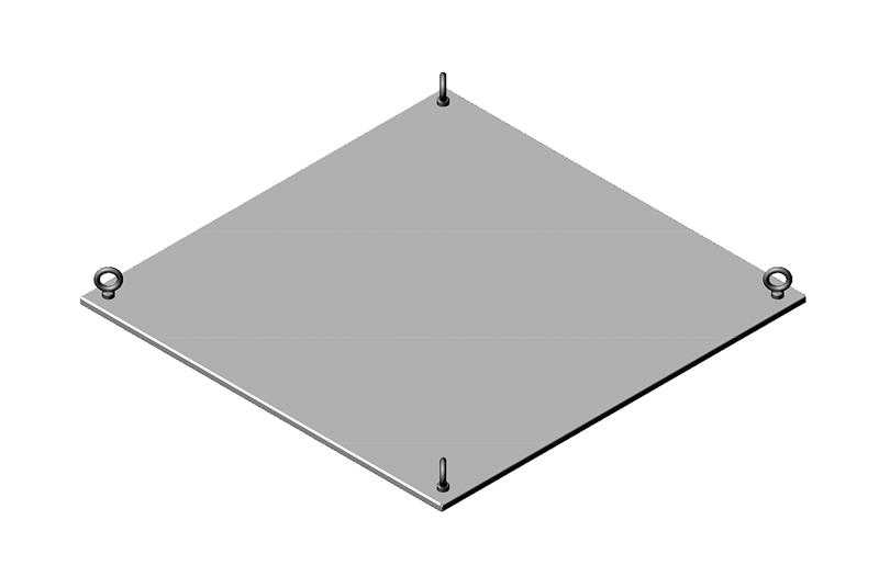 Solid Metal Top Panel Assembly for RMR Modular Enclosure Image