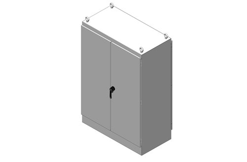 RMR Free-Standing Enclosure, Type 12, Dual Access with Solid Double Door Image