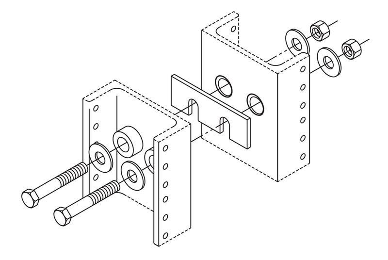 Rack Line-Up Spacer Kit for Two-Post Racks Image