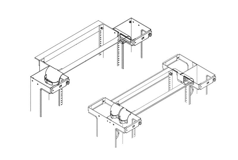 Rack Radius Drop for Vertical Cabling Section Image