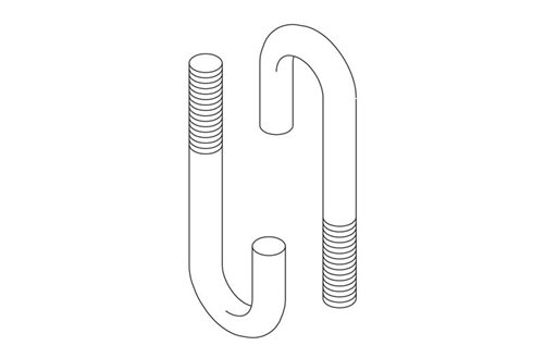 J-Bolts (Hook Bolt Round Bend) Auxiliary Framing Channel/Cable Image