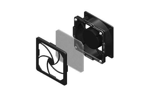 Low-Decibel Dual-Fan and Filter Kit for CUBE-iT Wall-Mount Cabinet Image