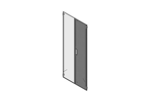 Double Perforated Metal Rear Door for N-Series TeraFrame® Gen 3 Cabinet Image
