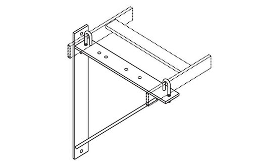 Triangular Support Bracket Aluminum Image