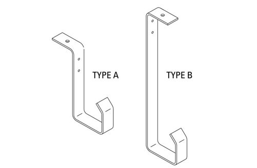 J-Hook Ceiling Cable Bracket Image