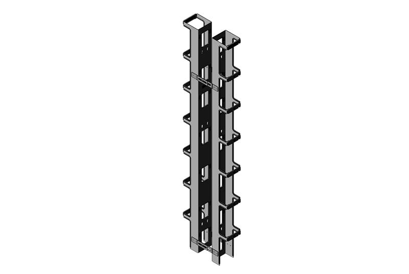 Vertical Cabling Section for Seismic Frame® Two-Post Rack Image