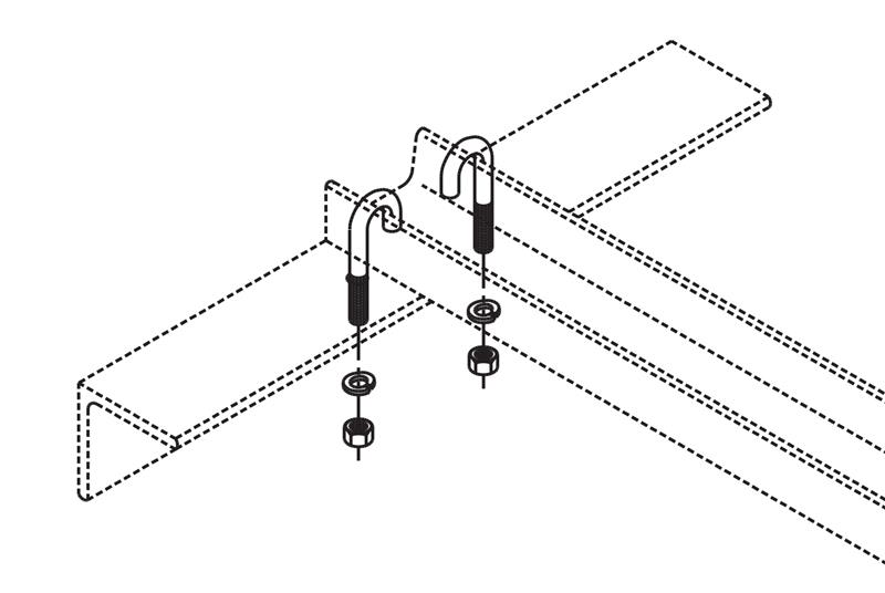J-Bolt Kit Auxiliary Framing Channel/Wall Angle Support Image