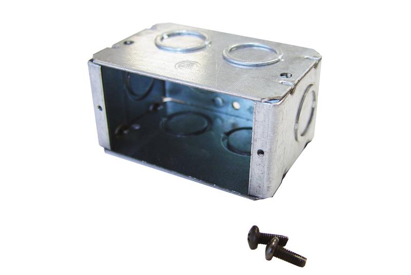 Seismic Frame® Two-Post Rack Duplex Electrical Outlet Box Image