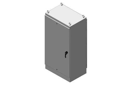 RMR Free-Standing Enclosure, Type 4 and 12, Dual Access with Solid Single Door Image