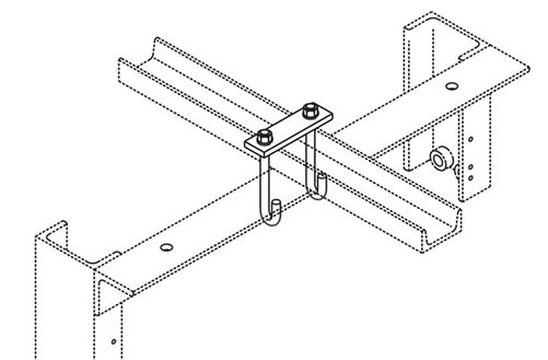 J-Bolt Kit Auxiliary Framing Channel/Rack Top Bar Image