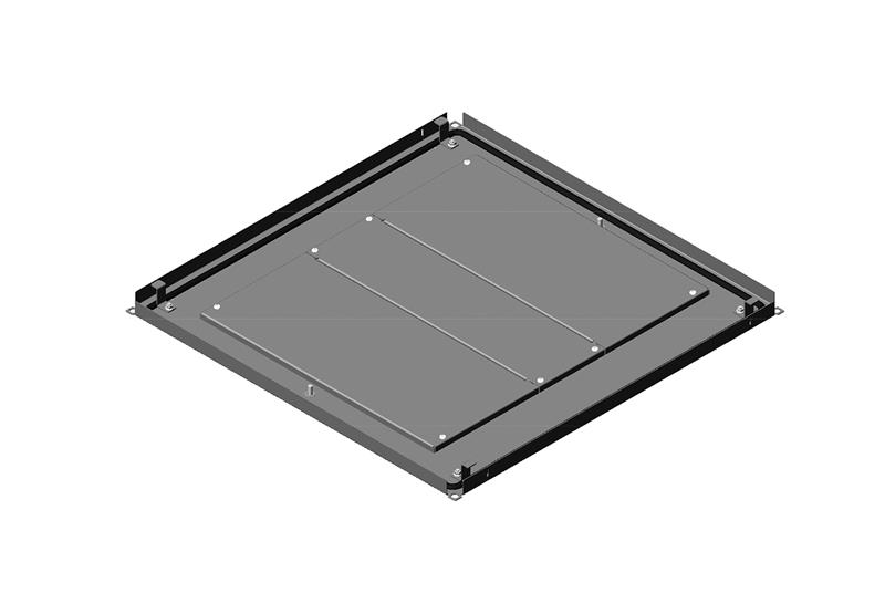 Bottom Panel Assembly With Removable Gland Plates for RMR Modular Enclosure Image