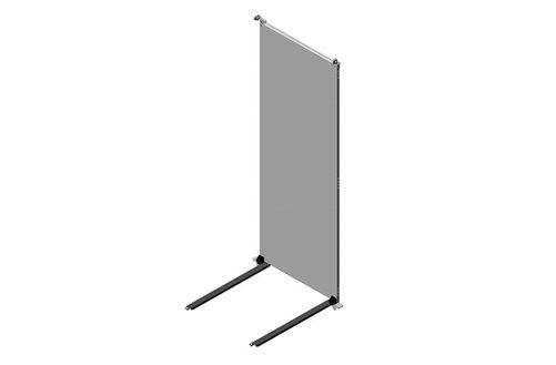 RMR Modular Enclosure Full-Height Mounting Plate Assembly with Lower Support Rails Image