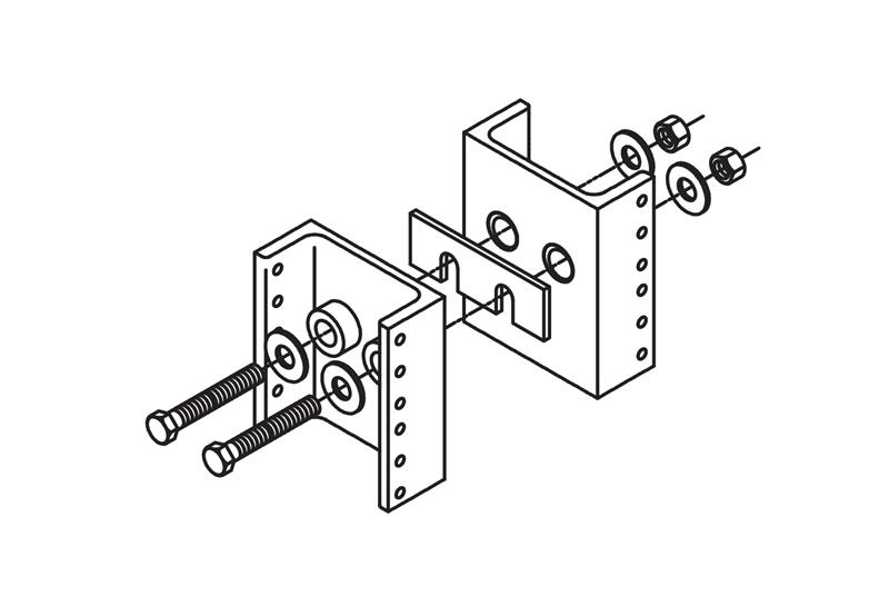 Rack Line-Up Spacer Kit for Four-Post Racks Image