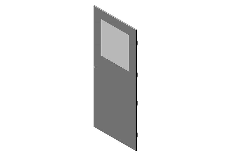 Single Metal Door With Window for RMR Modular Enclosure Image