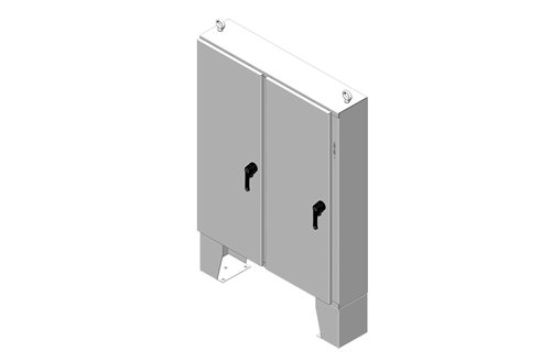 RMR Floor-Mount Disconnect Enclosure, Type 4, with Floor Stand and Solid Double Door Image