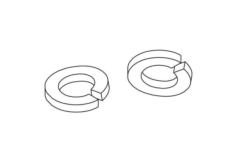 Split Lock Washers Image