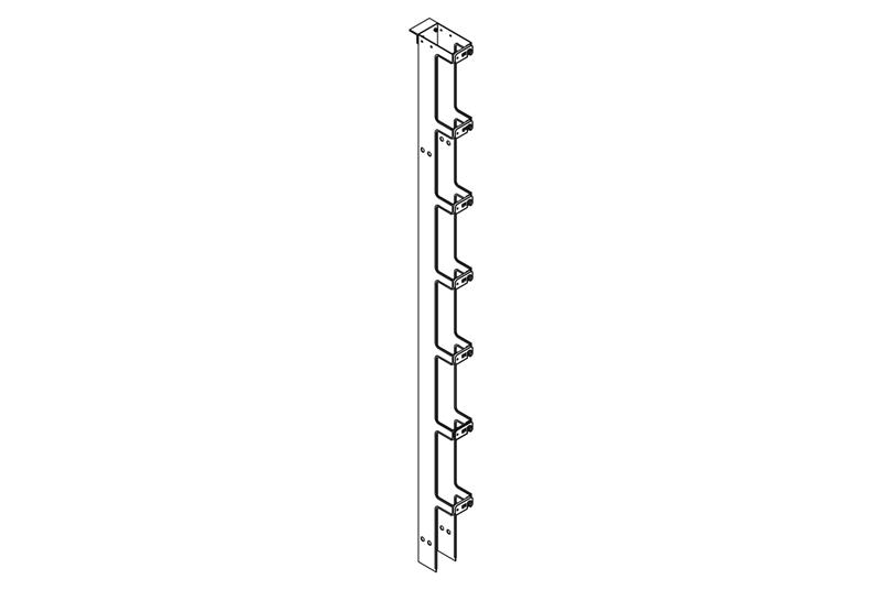 Single-Sided Narrow Vertical Cabling Section | Chatsworth Products