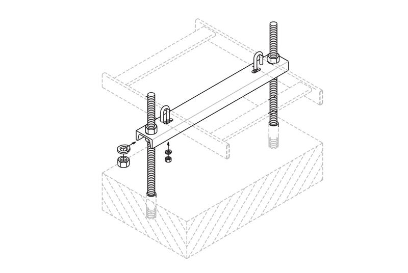 Adjustable Floor Support Channel Cable Runway Image